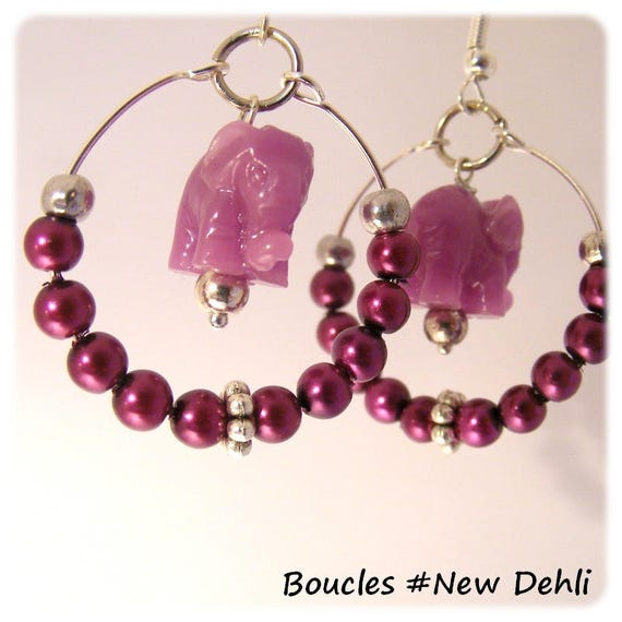 Earrings of a kind Designer [New Delhi] - plum