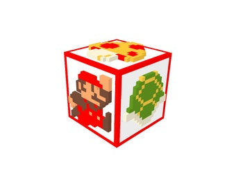 Super Mario Bros Perler Bead Pixel Art Storage Box or Coin Bank