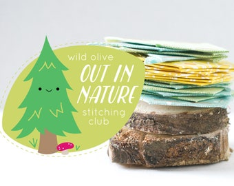 Out in Nature Stitching Club - Embroidery and EPP Mini Quilt Project