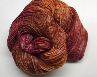 FREE SHIPPING Fire In The Hole - Handpainted Superwash Sock Yarn