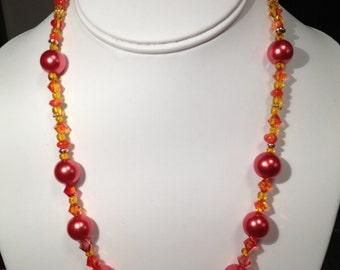 Beautiful Sunset Colors Necklace