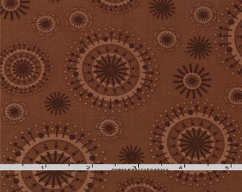 Brown Starburst Fabric, Moda Smore Love 37075 19 Grizzly Bear,  Brown Quilt Fabric, Eric & Julie Comstock, Cosmo Cricket, Cotton