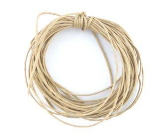 5 m cord Tan waxed cotton thread 1 mm (27 (A)