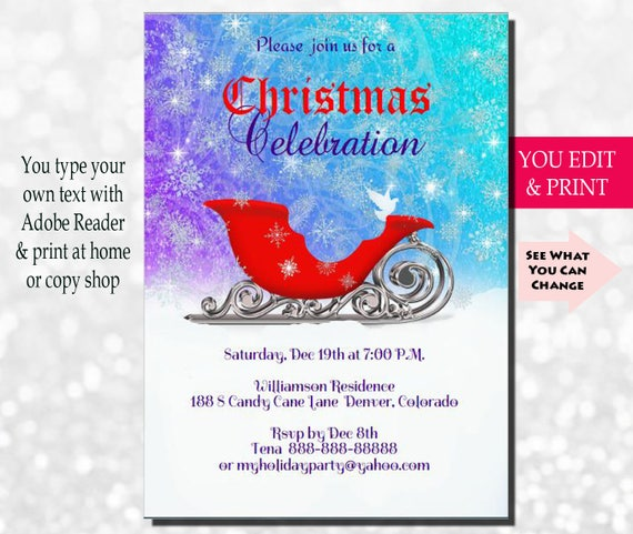 Christmas invitation christmas party invitation holiday solutioingenieria Gallery