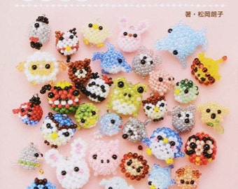 Cute and Round Beaded Animal Motifs - Japanese Bead Book MM
