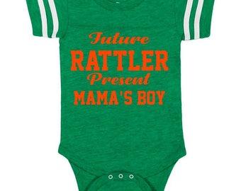 HBCU Future FAMU Rattler Florida A & M University Melanin Children Hbcu Onesie FAMU Legacy Black Colleges Future Rattler Present Mamas Boy
