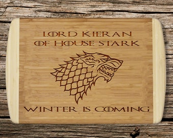 Game of Thrones Personalised sign, House Stark, Winter is Coming, Jon Snow,