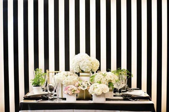 Wedding Backdrop Curtain Backdrop Black And White Striped