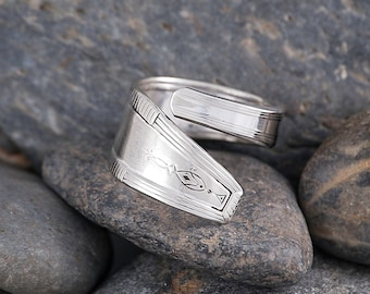 Silverware Handle Ring (Spoon Ring) Size 10 SR120