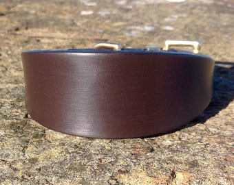 Best English Bridle Leather Dog Collar for Lurcher/Whippet/Bedlington/Italian Greyhound/Puppy/Sighthound