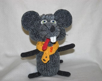 Grey rat toy