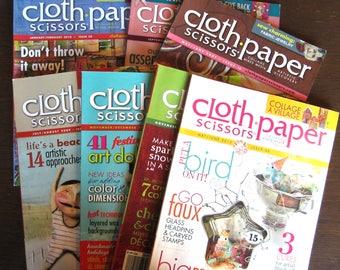 CLOTH PAPER SCISSORS Lot of 7 Back Issues