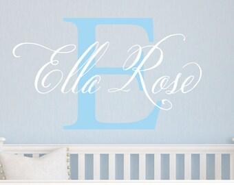 Elegant Name Decal - Children Wall Decals - Baby Girl Nursery Decor