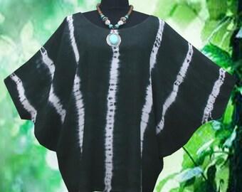 Shibori Striped Dolman Sleeve Top blouse shirt Tie dye Batwing Tee
