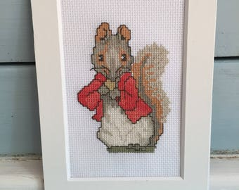 Cross Stitch Peter Rabbit Timmy Tiptoes Emroidery Beatrix Potter Ready to Frame