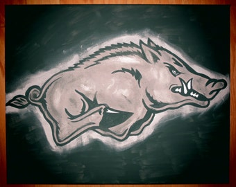NEW! Officially Licensed Anthracite Razorback Painting - FREE SHIPPING!