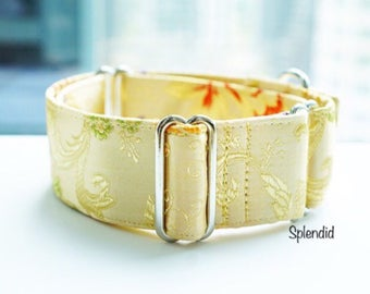 SPLENDID - Special occasions martingale collar, Fancy sighthound collar, Greyhound collar