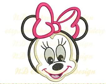 Baby Minnie Maus Stickerei Applikation, Stickerei Maschinendesign, ms-086