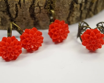 Set jewelry red