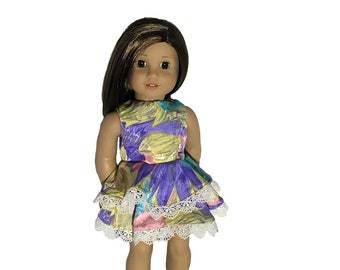 """Adorable Ruffled Party Dress/Fits 18"""" American Girl Doll/Spring Colors/Layers Of Ruffles & Lace/This New Dress Is Just What Your Doll Needs!"""