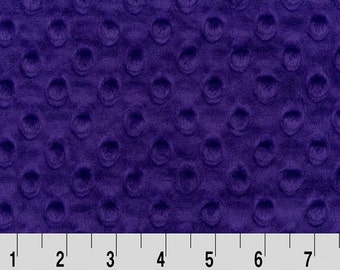 Minky Fabric By the Yard. Purple Dimple Dot Shannon Fabrics Minky Dot Fabric by the Yard at Wholesale Prices BTY True  Purple
