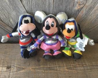 50731f65163 Vintage Mickey Mouse Beanie Babies  Space Astronaut Minnie Pluto Goofy 8 in  Mini Bean Bag  The Disney Store Exclusive Stuffed NASA Spacemen