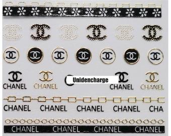 Nail Stickers Accessory 1 Sheet -Gold cc nail