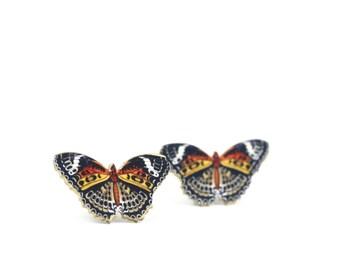 Lacewing Butterfly Post Earrings Butterfly Earring Post Earring Studs Butterfly Studs Little Girl Earring Shrink Plastic Bug Jewelry