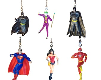 Justice League Fan Pull, Practical Gift, Gift for Boys, Gift for Girls, Kids Room Decor, Man Cave , Batman Superman Joker Flash Wonder Woman
