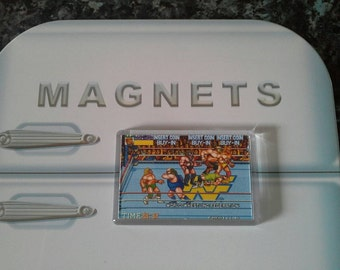 Wrestlefest Arcade Fridge Magnet. Royal Rumble Wrestling. WWF. Retro Videogame