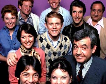 Cast of the show Happy Day's ABC 1970's sitcom