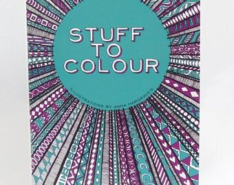 Stuff to Colour A4 Colouring Book