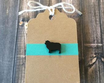 Black Sheep Lapel Pin / Tie Tack - Acrylic