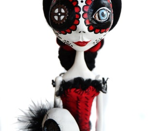 Day of the Dead Doll - Steampunk Art Doll - Dia de los muertos - Steampunk Art