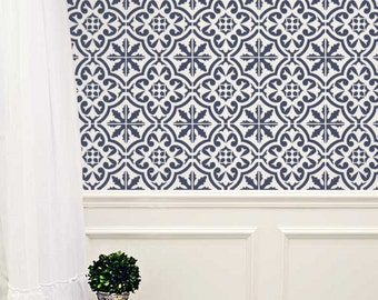 Moroccan Wall STENCIL -  Tile Pattern no. 3 - REUSABLE, Easy Wall Decor, DIY Home