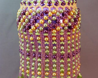 Beaded Ornament Cover Pattern - Belle