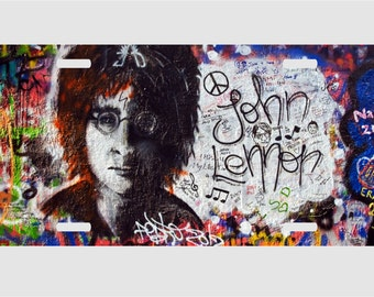 John Lennon - Graffiti -The Beatles- License Plate
