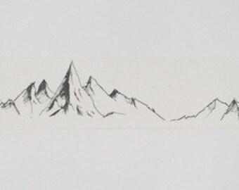Design Washi tape Mountains Mountain sketch Wide