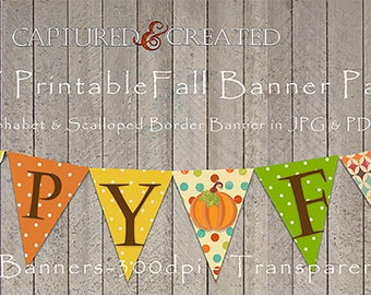 Thanksgiving & Fall  DIY Printable Banner*** Instant Download-Thanksgiving /Fall Printables -Thanksgiving Party Supplies