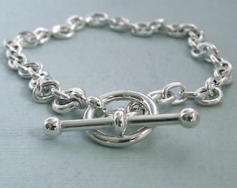 Simple Toggle Bracelet - Sterling Silver
