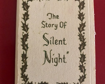 "Miniature 1960's ""The Story of Silent Night"" Booklet by Gibson Greeting Cards, Inc."