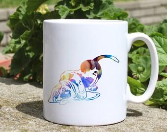 Funny dog mug - Dog mug - Colorful printed mug - Tee mug - Coffee Mug - Gift Idea