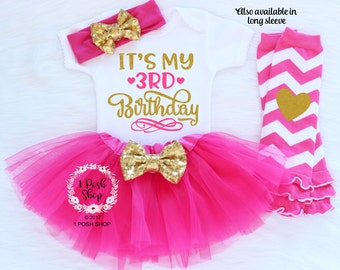 3rd Birthday Outfit Girl, Third Birthday Outfit Girl, Three Birthday Outfit, It's My 3rd Birthday, 3 Birthday Shirt, Birthday Outfit BT9