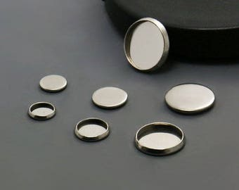 25 pcs Stainless Steel Round Bezel Cup Cabochon Setting Wholesale- 12mm/