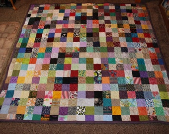 50% Deposit - Cal. King Scrappy Patchwork Quilt - Cal. King Size Quilt - DEPOSIT ONLY