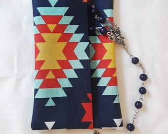 Aztec Print Rosary Pouch | Confirmation present | First Communion Present
