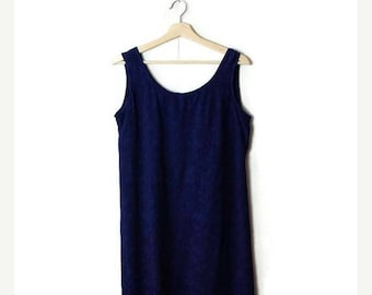 ON SALE Vintage Navy Sleeveless Slouchy Dress from 90's*
