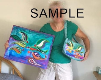 Custom Art Purse - Your artwork printed on a custom made fabric purse