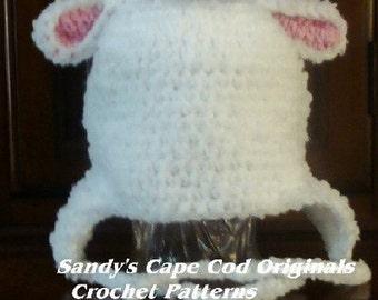Sweet Lambie Pie Earflap Hats Crochet Patterns PDF Infants to Adults 132