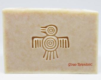 SoapRepublic 'Mayan Quetzal Bird' Acrylic Soap Stamp / Cookie Stamp / Clay Stamp